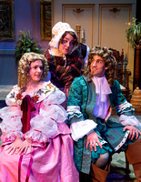 Theatre students perform Tartuffe, a comic opera directed by Hyrum Conrad.