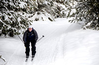 An outdoor activities participant cross country skiing.<br/>Pictured: Mathew Shumway
