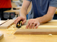 Brian Blaylock's Construction 200 furniture making lab is a hands on Class.