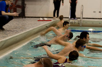 Students compete in Try-A-Tri, a triathlon that encourages students to try a triathlon regardless of their abilities.
