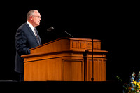 Education Week Devotional speaker Elder Paul V. Johnson of the First Quorum of the Seventy.