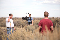 Production stills for the Wagon Box Prophecy video.