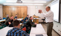 Reed Nielson teaches a Construction Law class in the Austin Building at BYU-Idaho.