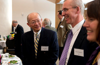 Snow Society members mingle at a banquet to honor Wilson Brown for his contribution to the Arts.