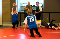 Students play a new recreational sport introduced at BYU-I; Matball.