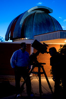 Stephen McNeil of the Physics Department took a group of students to the Observatory out by the Livestock Center on a beautiful clear night. Student Astronomy enthusiasts had the opportunity to see Sa