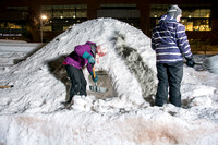 Outdoor Activities make a snow cave as a way to practice making a shelter during the winter.