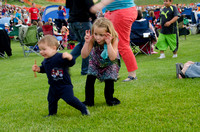 Celebrate America, an Independence Day Celebration at the Huntsman Springs Golf Course in Driggs, Idaho. It was free fun for everyone, bounce toys for kids and a concert featuring two of the original