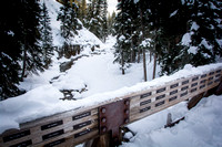 A scenic view off a trail near Big Sky, Montana.