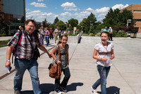 The campus is a buzz with patrons at the 2013 Education Week at BYU-Idaho.   BYU-Idaho photo by Michael Lewis