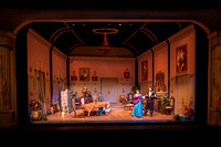 Tartuffe theater production performed in the Eliza R. Snow Drama Theater.
