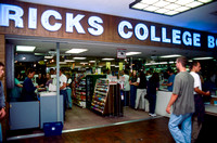 The front of the Ricks College Bookstore at the beginning of the semester.