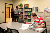 Students take advantage of the many resources available to them in the Career Networking Center which is located in the Hyrum Manwaring Center at BYU-Idaho.