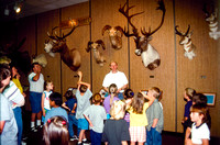 Young kids on a tour of the Zoology room