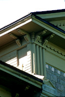 Decorative brackets added to the soffit and eaves