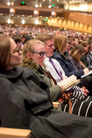 Students of BYU-Idaho taking notes during devotional. Photo by Ryan Chase