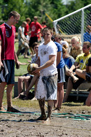 Students played against each other at the annual Mud Volleyball tournament hosted by Rec Sports.