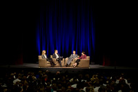 President and Sister Gilbert ask Elder and Sister Bednar questions during Date Night with married students at BYU-Idaho.