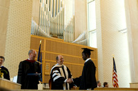 College of Education and Human Developement held convocation in Taylor Chapel.