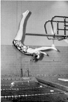 1970 Diving archive photo Pike off the low board.