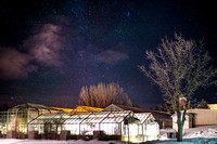 Benson Greenhouse at night