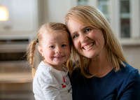 Christine Gilbert with her youngest daughter.