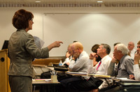 Christine Geddes instructs a class on engaging students to faculty at the BYU-Idaho Faculty Conference