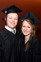 Megan and Zach Kelly participate in April Graduation. Photo by Katelyn Crompton.