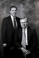 Portrait of the 1994 Business Man of the Year, Daniel Howells, with President Steven D. Bennion. March 1994.