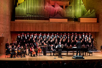 The Brigham Young University-Idaho choirs and ensembles perform in a concert together.