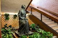 Statue of Eliza R. Snow in the Snow building lobby.