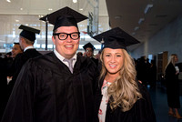 Graduates Erik Hill and Katelyn Cromptyn, of Brigham Young University-Idaho, prior to convocation of the Spring 2016 semester. Photo by Ryan Chase.
