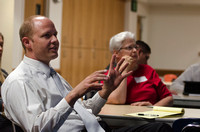 A faculty member shares an idea with a class during the BYU-Idaho Faculty Conference