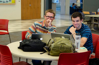 Students studying in the Manwaring Center