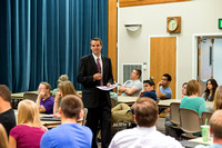 Nathan Meeker teaches a Foundations class on Developing the World.