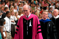 President Henry B Eyring and Elder David A Bednar, former Presidents of Ricks College/BYU-Idaho, attend the inauguration for President Kim B Clark.