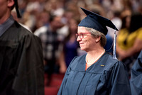 Graduate and Pathway missionary, Sister Brett, of Brigham Young University-Idaho entering Convocation ceremony of the Spring 2016 semester. Photo by Ryan Chase.