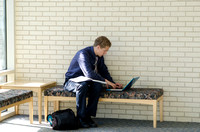 Student studying in the John Taylor Building