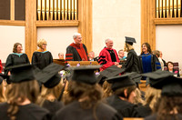 Convocation for the College of Education and Human Development was held in the Stake Center next to the Temple. Elder Kim B. Clark, Commissioner of Church Education gave some remarks and congratulated