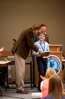 Nicholas Monahan is awarded first place at the Idaho State Geography Bee and also receives a trip to Washington D.C. to compete in the National Geography Bee.