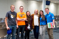 "Students Volunteer through ""Student Support"" to help and serve incoming Freshman during new student orientation."