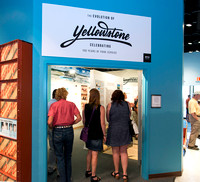 """The Evolution of Yellowstone, Celebrating 100 Years of Park Service"" A new display designed by BYU-Idaho students as part of their course work for a Graphic Design class taught by Shawn Randall."