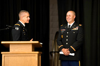 Tyler Rickenbach receives the rank of 2nd Leutentant in the United States Army upon completition of his training at BYU-Idaho ROTC.