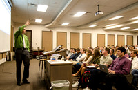 David Barrus teaches an American Foundations class in the lecture hall of the Joseph Fielding Smith Building