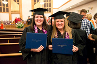 Convocation for the College of Education and Human Development was held in the Stake Center next to the Temple.