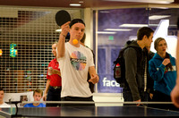 BYU-Idaho students participate in a ping pong tournament held in the Manwaring Center