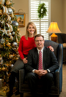 President Clark G. Gilbert and Christine Gilbert in their home.