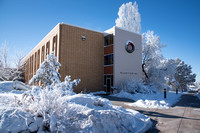 William F. Rigby hall in the winter