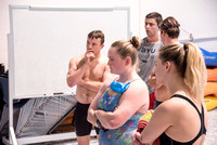 Students at BYU-Idaho tryout to become lifeguards for the Winter 2017 semester.