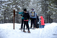 Students go snowshoeing at Harriman Park, located in Island Park, Idaho